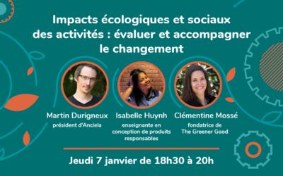 Webinaire Inspirations #7 – Impacts écologiques et sociaux des activités : évaluer et accompagner le changement